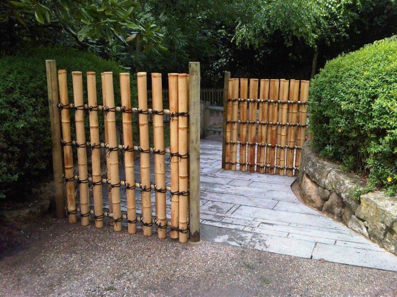 Заборы из древесины (палок)