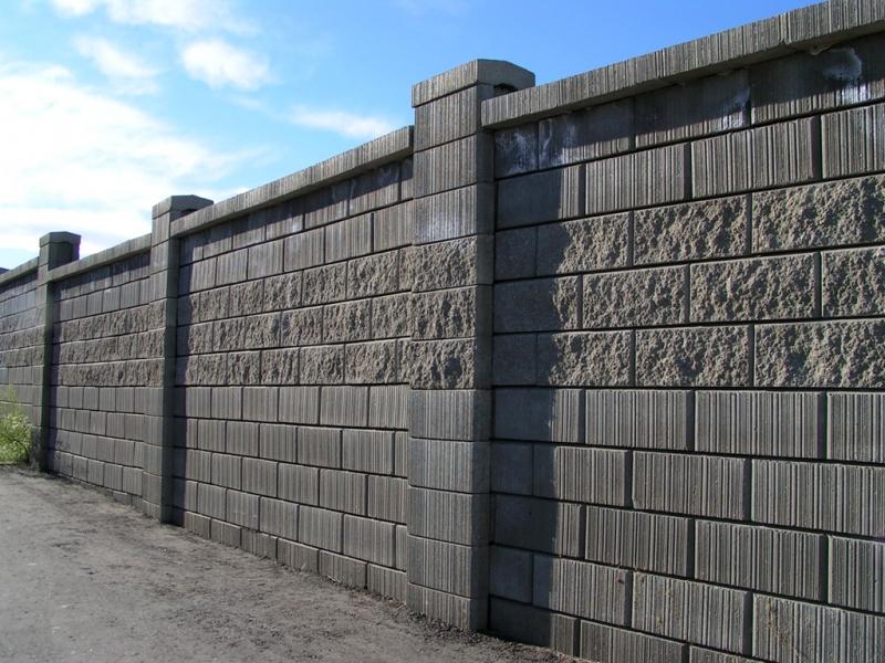 Заборы из блоков